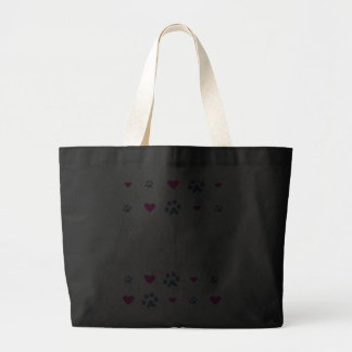 Dogs Leave Paw Prints on Our Hearts Jumbo Tote Bag