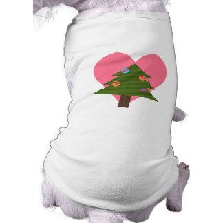 Dogs Love Christmas Trees Dog T-Shirt