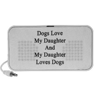 Dogs Love My Daughter And My Daughter Loves Dogs PC Speakers