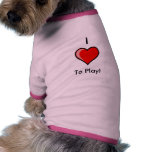 Dogs Love To Play!!!! Doggie T Shirt
