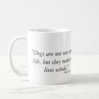 Dogs make our lives whole - Weimaraner Coffee Mug