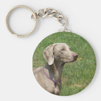 Dogs make our lives whole - Weimaraner Key Ring