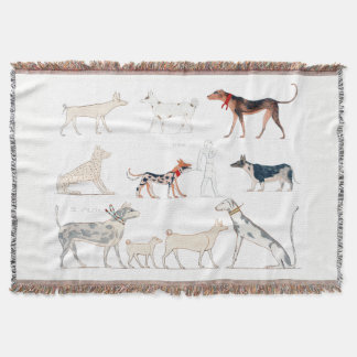 Dogs of Ancient Egypt Throw Blanket