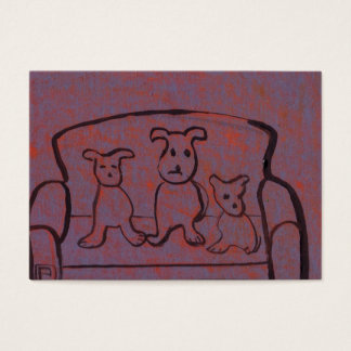(Dogs on a settee business Card) Business Card
