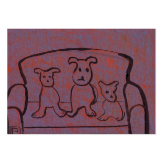 (Dogs on a settee business Card) Pack Of Chubby Business Cards
