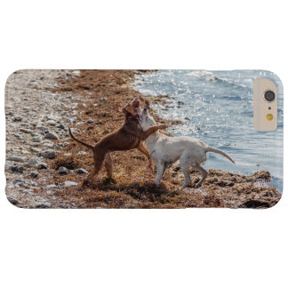 Dogs on beach barely there iPhone 6 plus case