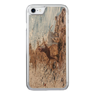 Dogs on beach carved iPhone 7 case
