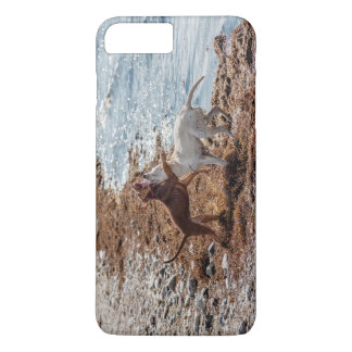 Dogs on beach iPhone 7 plus case