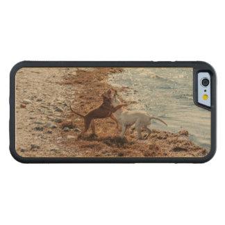 Dogs on beach maple iPhone 6 bumper