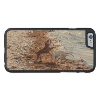 Dogs on beach carved® maple iPhone 6 slim case
