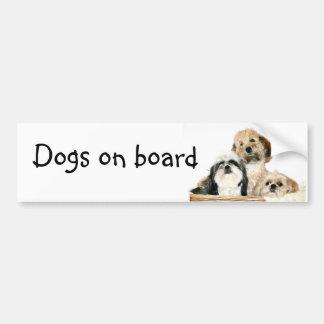 Dogs on board bumper sticker
