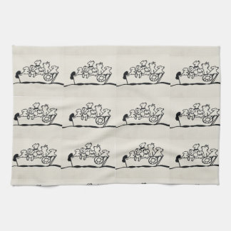 """""""Dogs on Boat"""" Kitchen Towel by Willowcatdesigns"""