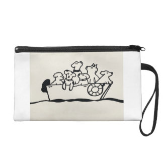 """""""Dogs on Boat"""" wristlet by Willowcatdesigns"""