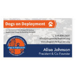 Dogs on Deployment business card Pack Of Standard Business Cards