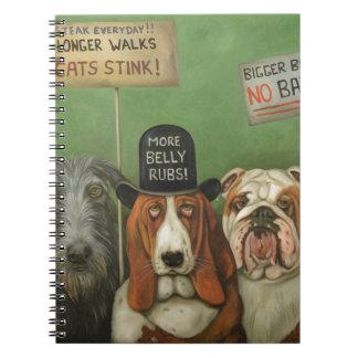 Dogs On Strike Notebooks