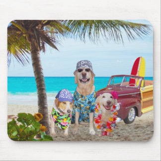 Dogs on the Beach Mouse Pad