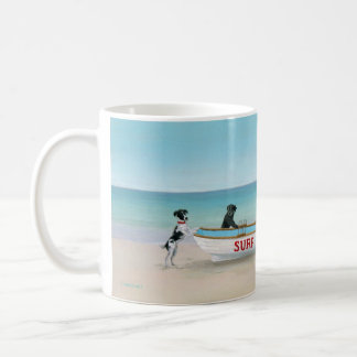 Dogs on the Beach Themed Mug Themed