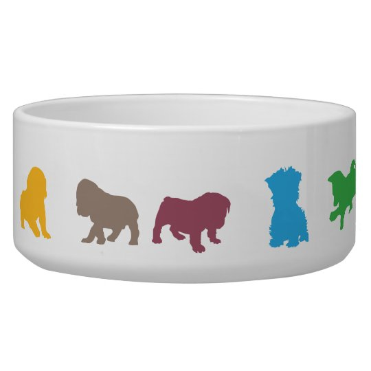 Dogs outline pattern large pet bowl