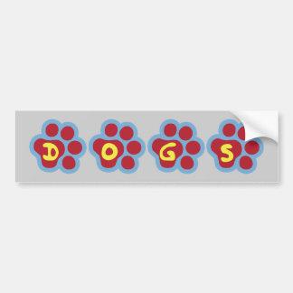 Dogs Paw Print Bumper Sticker