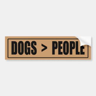 Dogs > People Bumper Sticker