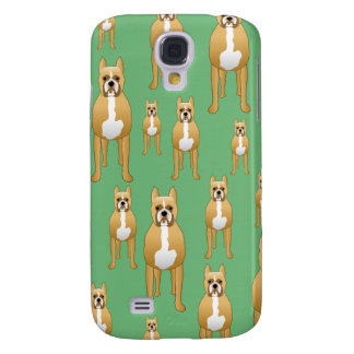 Dogs Pern, Boxers on Green. Galaxy S4 Case