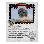 Dog's Photo with Name and Poem Pet Memorial Poster