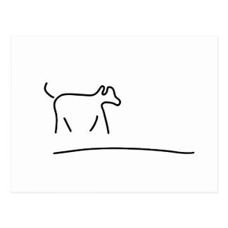 dogs play domestic animal postcard