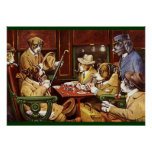 Dogs Playing Cards  poster