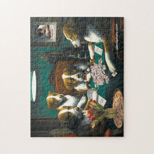 Dogs Playing Mah Jongg Jigsaw Puzzle
