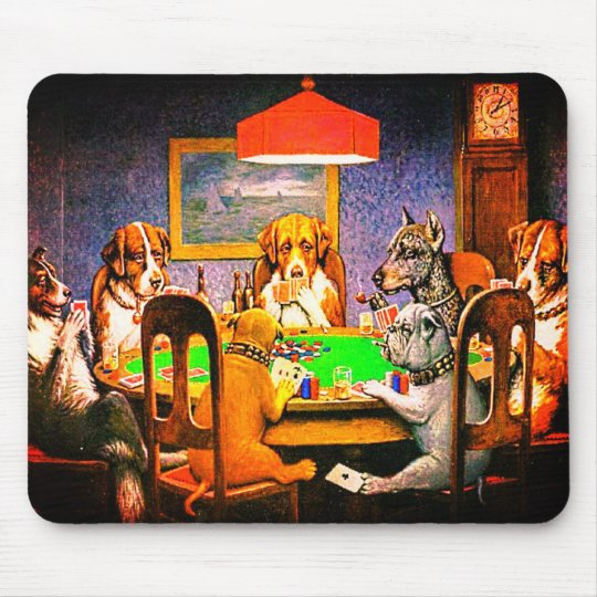 Dogs Playing Poker A Friend In Need Mouse Mat