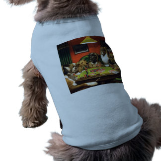 Dogs playing poker - funny dogs -dog art shirt
