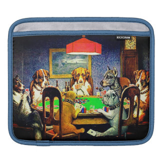 Dogs Playing Poker iPad Sleeve