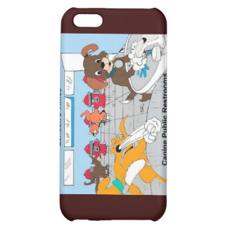 Dogs Public Restrooms Funny Gifts Cards Etc Cover For iPhone 5C