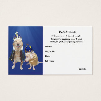 Dogs Rule Business Card