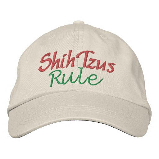 Dogs Rule by SRF Embroidered Hat