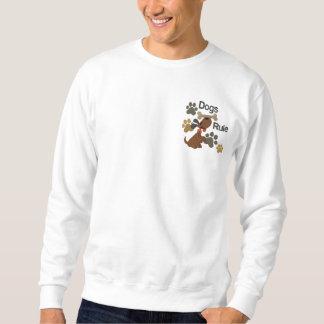 Dogs Rule! Embroidered Sweatshirt