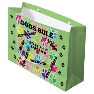 Dogs Rule Large Gift Bag