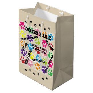 Dogs Rule Medium Gift Bag