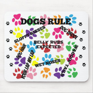 Dogs Rule Mouse Mat