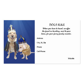 Dogs Rule Pack Of Standard Business Cards