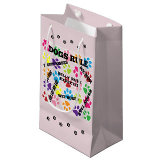 Dogs Rule Small Gift Bag