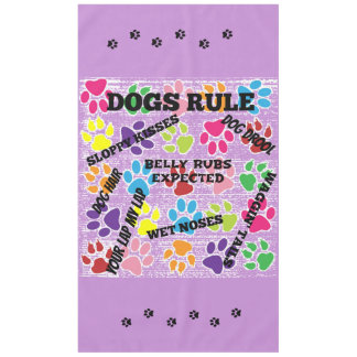 Dogs Rule Tablecloth