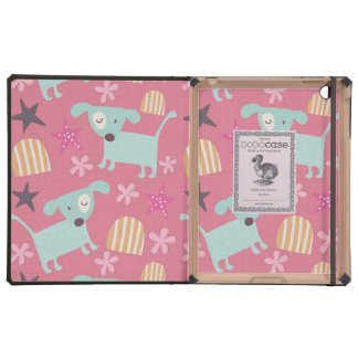 Dogs, Stars, and Flowers iPad Case