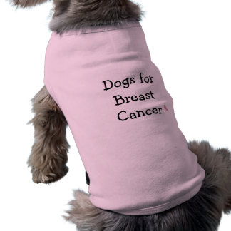 Dogs Supporting Breast Cancer Sleeveless Dog Shirt