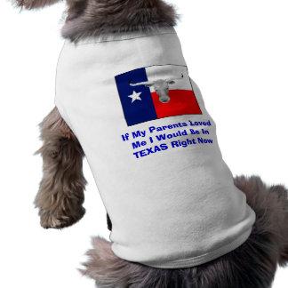 Dog's Texas Shirt Sleeveless Dog Shirt