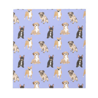 Dogs Vector Seamless Pattern Notepad