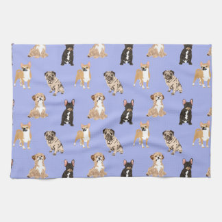 Dogs Vector Seamless Pattern Tea Towel