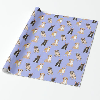 Dogs Vector Seamless Pattern Wrapping Paper
