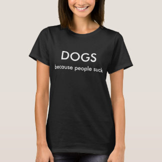 DOGS vs PEOPLE T-shirt