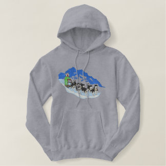 Dogsled Team Embroidered Hoodie